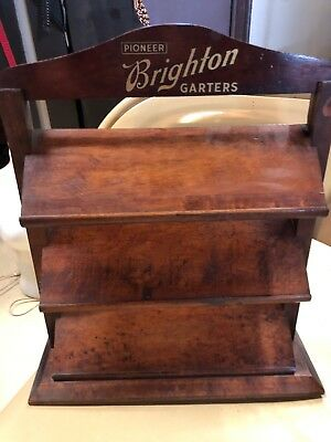 RARE BRIGHTON Garter COUNTER Top STORE Display Pioneer Suspender Company (c)1900