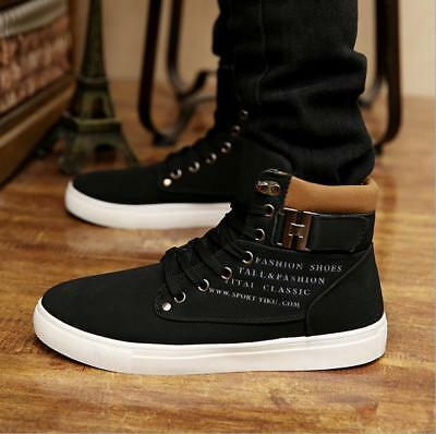 New Canvas Shoes Mens Student Casual Sneakers High Tops Ankle Boots Jian