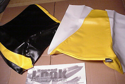 1999 HONDA CBR 900 SEAT COVER  & TANK BRA Yellow/Black SECOND LOOK MOTORCYCLE