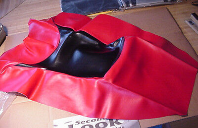 NEW 2000 KAWASAKI ZX-1200 SEAT COVER SKIN Red/Black SECOND LOOK MOTORCYCLE SKINS