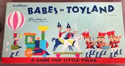 Vintage 1961 Walt Disney's Babes in Toyland  Board game.