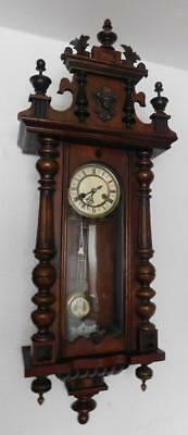 walnut  cased vienna wall clock