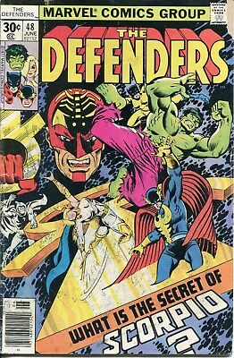 Comic book: THE DEFENDERS #48 June 1977 good condition