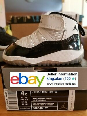 2011 Ds Jordan Retro 11 Concord 4C Infant / Toddler 378040 107