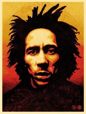 Bob Marley Silk Screen Print by Shepard Fairey Signed & Numbered Ed 450 Obey