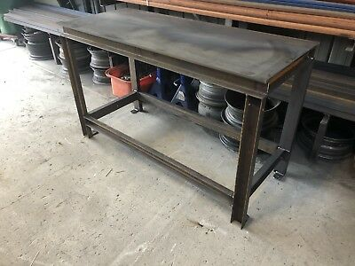 Heavy Duty steel Work Bench with 10mm top