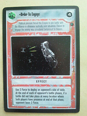 Star Wars CCG Dagobah Order To Engage mint/nm