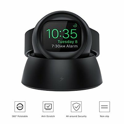 Car Holder For Apple Watch Series 3 Charging Stand 360° Rotatable Dock Black