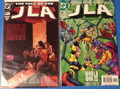 JLA 39 40 42 47 73 Mar Apr Jun Nov Dec 124 00 02 06 comic lot of 6