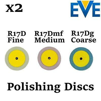 x2 Dental EVE Diapol Polishing Discs Disks Polish Ceramic Porcelain Diamond