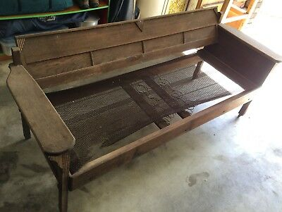 Art deco outdoor wooden bench seat