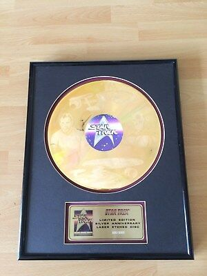 STAR TREK , 25. Anniversary Limited Edition Laser Etched Disc Nr. 108/1000