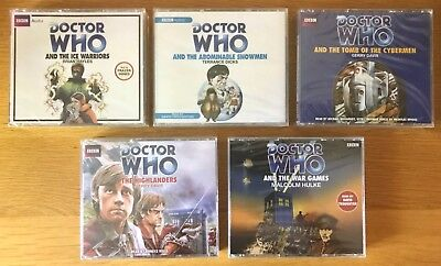 NEW SEALED 5 x DOCTOR WHO AUDIO CD SETS SECOND DR. ICE WARRIORS + WAR GAMES +++