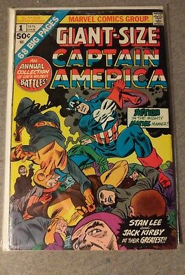 Giant-Size Captain America # 1 Fine/VF Cond. (SIGNED BY STAN LEE)