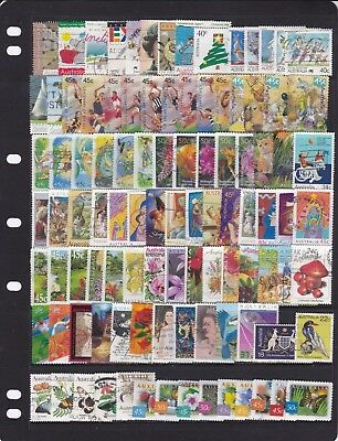 100 Different Australian Stamps Used Bulk Lot Off Paper Good Mix FREE POST IN OZ