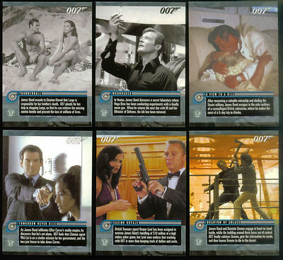 James Bond Mission Logs Trading Card Set