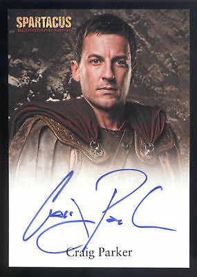 Spartacus Blood and Sand Craig Parker Autograph Trading Card
