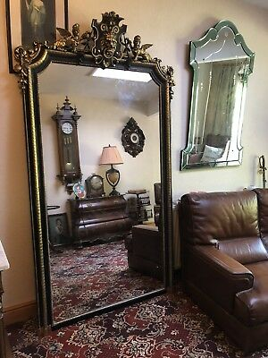 Antique French Napoleon III Mirror Extremely Large Stunning