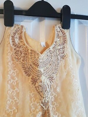 Baby Detailed Indian Cream Lengha Outfit Never worn.