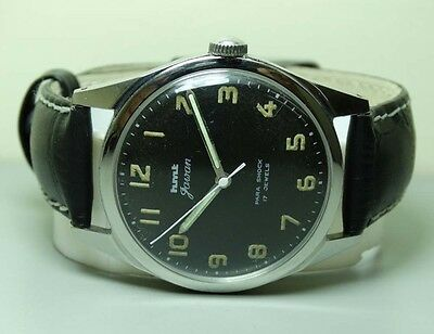 Vintage Military Hmt Winding 17 Jewels Mens Watch Gc32137 Old Used Antique B823