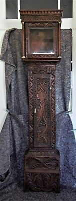 Carved Oak Longcase / Grandfather Clock Case Only