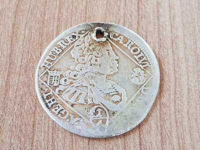 1/4 TALER 1738 Karl VI of Habsburg - Ruler of Hungary AUTHENTIC SILVER COIN
