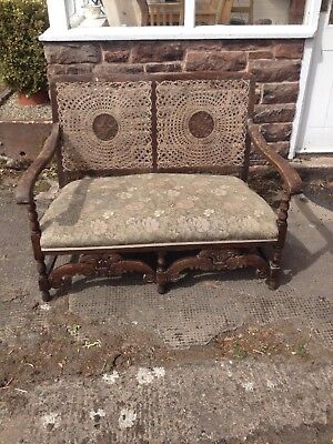 antique wicker backed seat