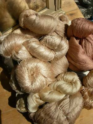 8 huge skeins hanks antique French 1880s pure silk floss embroidery thread