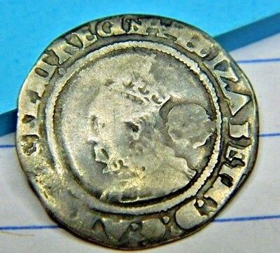 Tudor 1569 Elizabeth 1St Silver Sixpence Mm Coronet Rose Beside,mm Coronet