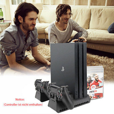 PS4 Stand Vertical Stand for PS4/ Slim Cooling Fan Controller Charger DHL DE