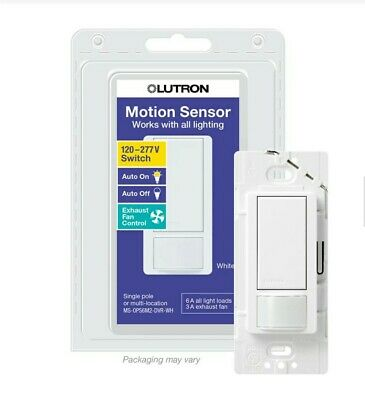 Lutron Occupancy Sensor Switch MS-OPS6M2-DVR-WH  6 Amps/3 amps