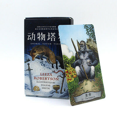 Tarot Cards 78 Cards Quality Animal Totem Board Game Deck