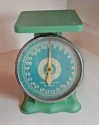 Vintage For The Worlds American Family Scale Chicago 25 Pounds Tabletop Scale