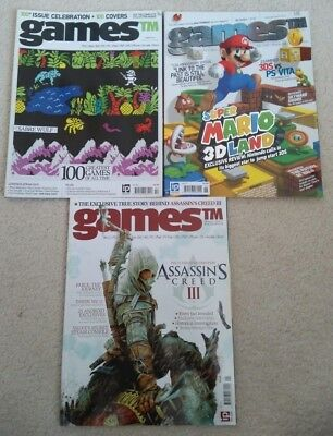 Games TM Issues 100, 115, 121 - Greatest Games; Mario 3D Land; Assassins Creed 3