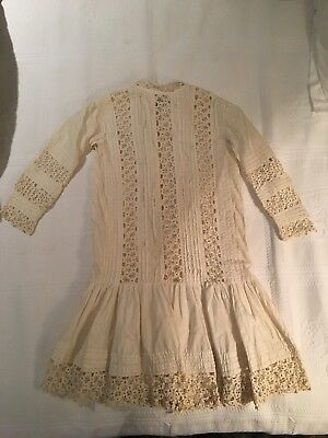 Antique Hand Crocheted Christening Gown