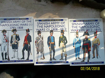 Spanish Army of the Napoleonic Wars 1815 Vol 1-3, Men-At-Arms, Osprey Military