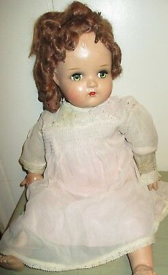 Vintage Madame Alexander Little Genius Cloth & Composition Doll -Needs TLC