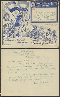 South Africa WWII 1941 - Illustrated Field post air letter - Censor 23468