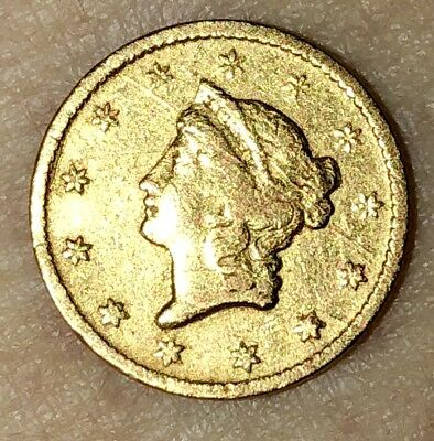 1849 O G$1 Gold Dollar. Type 1. New Orleans Mint