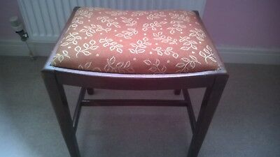 Antique Upholstered Solid Wood Dressing Table Stool IMMACULATE