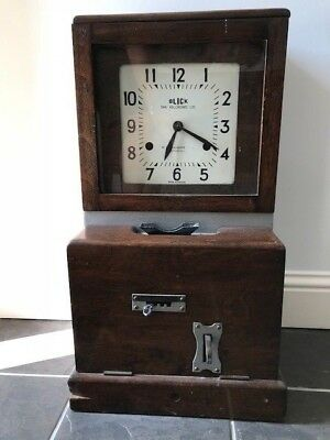 "Antique time recorder clock ""Blick"""
