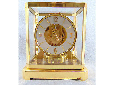 SWISS LE COULTRE ATMOS 15 JEWEL MANTEL CLOCK 528-6 1960's