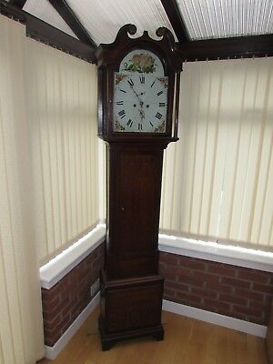 Antique Robert Currer Of Peebles Grandfather Clock Cir 1850s Great Working Order