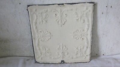 "Antique 12 "" x 12 ""  Salvaged  Victorian Metal Tin Ceiling Tile"