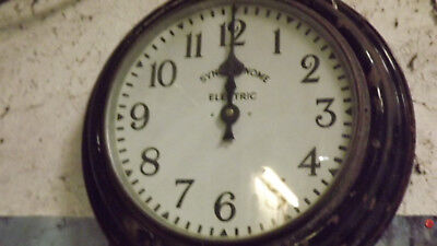 Large Slave Clock  Antique Station/school