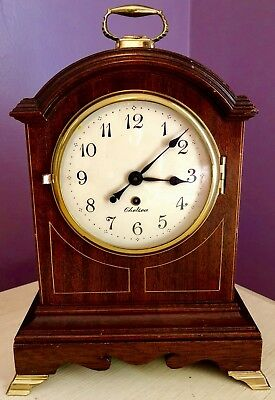 """Chelsea Clock Co. """"wythe House"""" Mantle Clock ~ Running ~ Original Key~ No Res."""