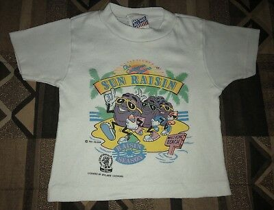 RARE Vintage Toddler 1987 The California Raisins Graphic T Shirt Size 3T 80s VTG