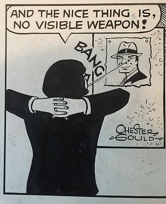 Original Comic Strip Art Dick Tracy 4-9-1976