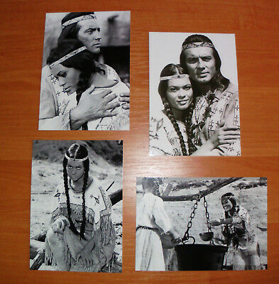 4 AKs Marie Versini Pierre Brice ( Karl May Winnetou )