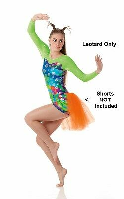 Allegria Dance Costume LEOTARD ONLY No Shorts Small and Child X-Small 2-3yr New